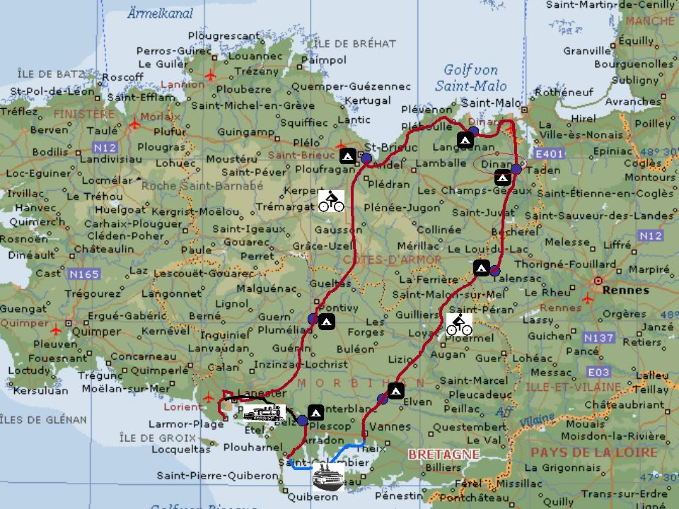 Map Of France North Coast.The Hannover Bike Boys On Tour 2004 France